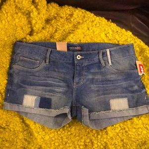 🆕💙 LEVI'S Jean Shorts 13 Juniors Denim Patch New